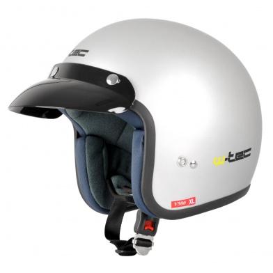Moto helma W-TEC V500 - Barva šedá, Velikost XS (54)
