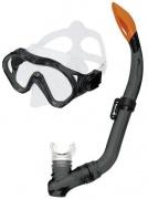 CAYMAN JUNIOR -Sada brýle+šnorchl černý