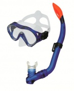 CAYMAN JUNIOR Sada brýle+šnorchl modrá