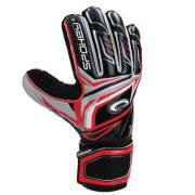 CONTACT II Brankářské rukavice černo - červené č. 11
