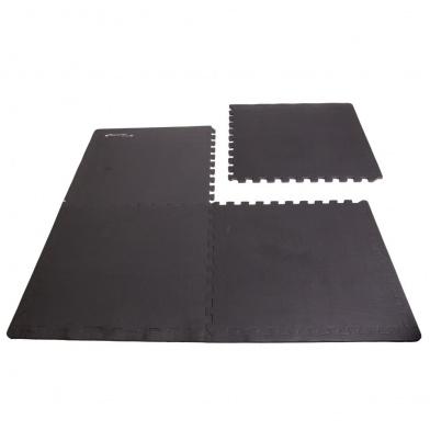 SCRAB-Podložka puzzle pod fitness vybavení, černá 4 kusy 61x61 cm