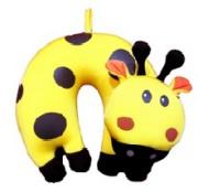 Cestovní polštářek dětský mikrokuličky žirafa