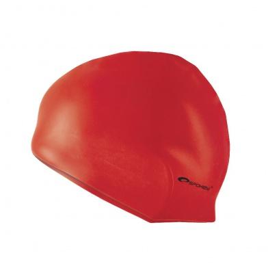 SUMMER-Plavecká čepice silikonová červená