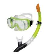 CEFEUSZ-Sada brýle+šnorchl zelená