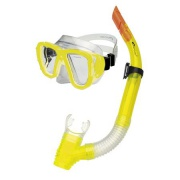 CORAL JUNIOR-Sada brýle+šnorchl žluté