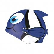 RYBKA- Dětská plavecká čepice  modrá