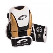 SAIJO Kožené rukavice na MMA zlaté M-XL