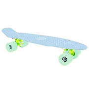 "CRUISER Pennyboard   22 x 6"" světlá modrá, zelená kolečka 60x45 mm"