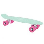 """CRUISER Pennyboard   22 x 6"""" světlé zelený, růžová kolečka 60x45 mm"""