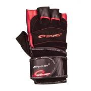 MITON  Fitness rukavice černo-červená vel. M