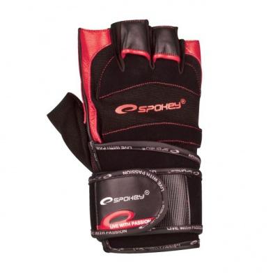 MITON  Fitness rukavice černo-červená vel. XL