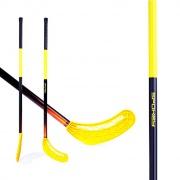 AVID II -Hokejka florbal žlutá rovná čepel