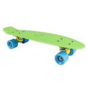 """CRUISER board   22 x 6"""" neon zelený, modrá kolečka 60x45 mm"""
