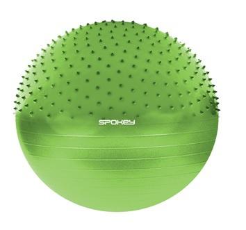 HALF FIT Gymnastický míč 2v1 65 cm včetně pumpičky zelený