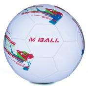 MBALL fotbalový míč bílo-oranžový  vel.5