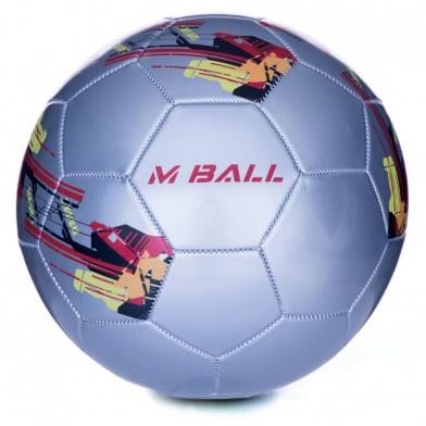 MBALL fotbalový míč stříbrný vel.5