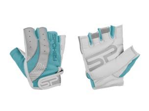 ZOE II Dámské Fitness rukavice bílo-tyrkysové vel. S-L