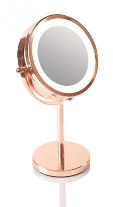 Kosmetické zrcátko RIO ROSE GOLD MIRROR