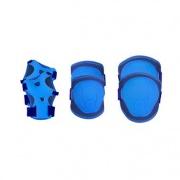 Spokey BUFFER - 3-dílná sada dětských chráničů, modré, velikost XS-M