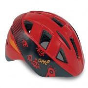 Spokey CHERUB Dětská cyklistická přilba IN-MOULD červená, 44-48 cm
