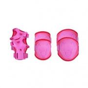 Spokey BUFFER - 3-dílná sada dětských chráničů, růžové, vel. M