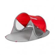 Spokey STRATUS Samorozkládací plážový paravan, UV 40, 190x120x90 cm - červený