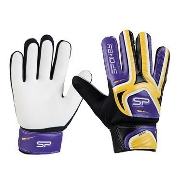Spokey CATCH II brankářské rukavice žluto-fialové roz. 5