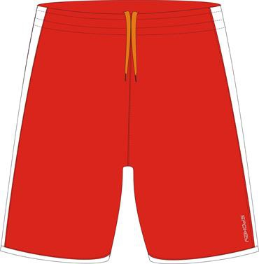 Spokey Fotbalové šortky červeno-bílé vel. L